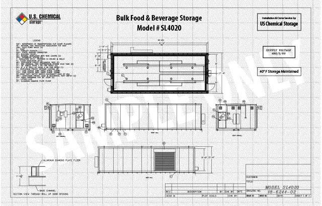 Bulk Food and Beverage Storage US Chemical Storage SL4020