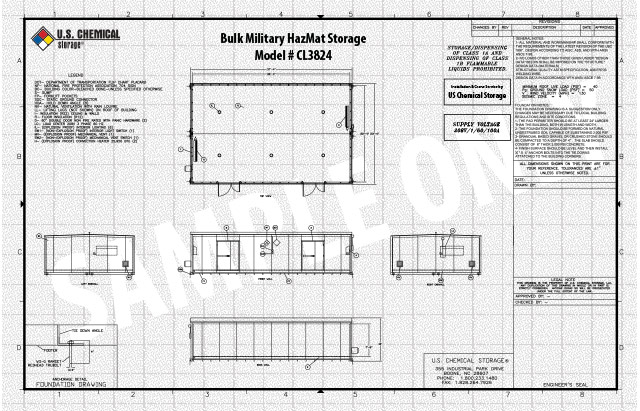 Bulk Military HazMat Storage US Chemical Storage CL3824