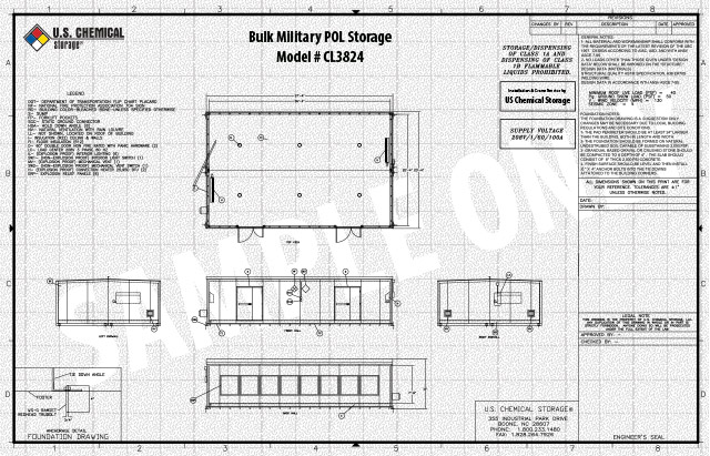 Bulk Military POL Storage US Chemical Storage CL3824