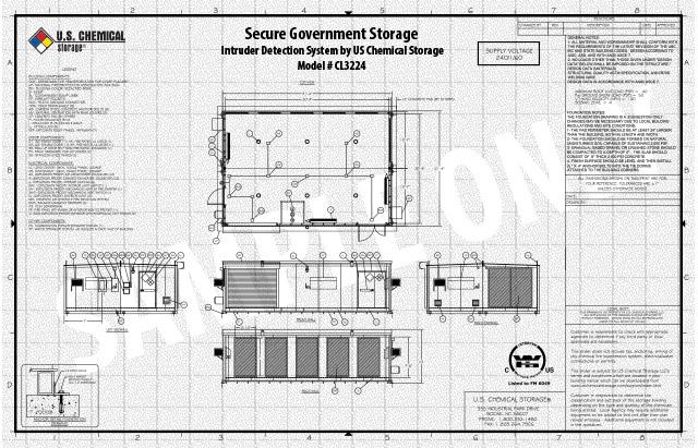 Intruder Detection System US Chemical Storage CL3224