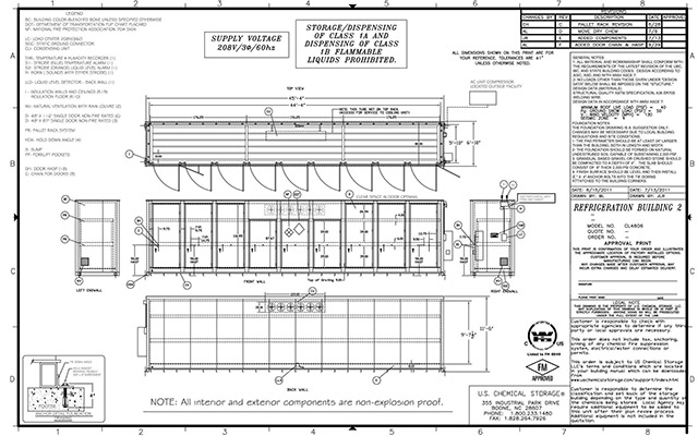 USChem Storage Schematic or Blueprint