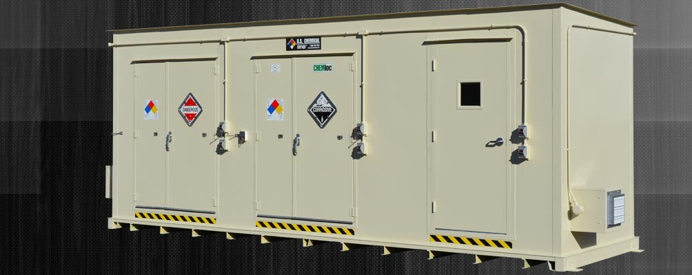 Lithium battery storage building