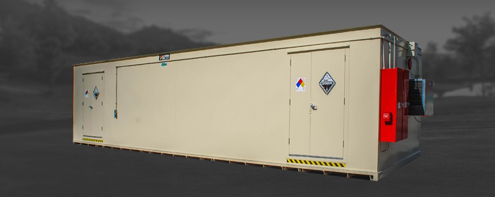 Fire Rated Steel Storage Building with force air climate control accessories
