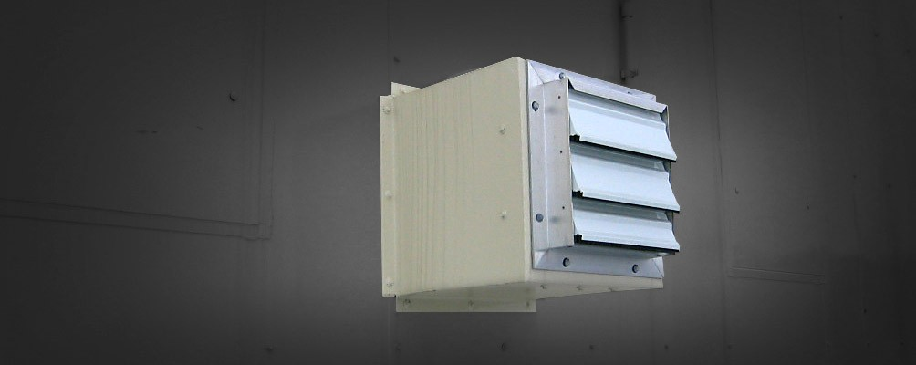 Mechanical Ventilation System with Fire Damper Louvers