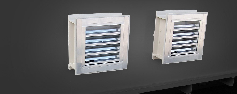 Mechanical Ventilations System with Fire Damper Louvers