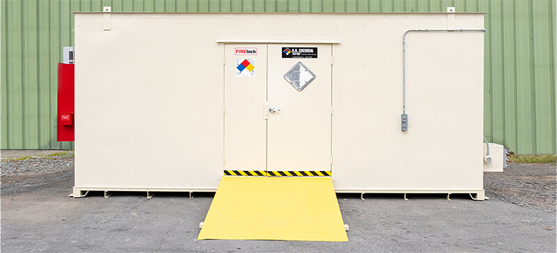 rentals and temporary hazmat storage buildings