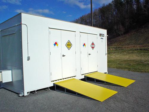 Hazardous Building Material : Hazmat storage building meets compliant regulations
