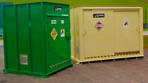 pesticide storage unit