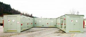 hazardous material storage building