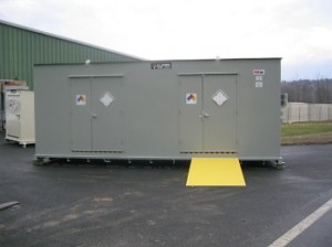 outdoor hazmat storage