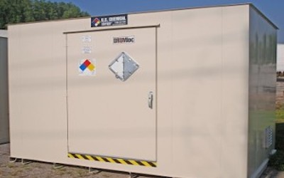 Storage unit for pool chemicals