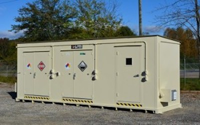 Chemical storage unit for touene
