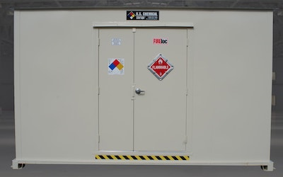 Storage unit for flammable liquids