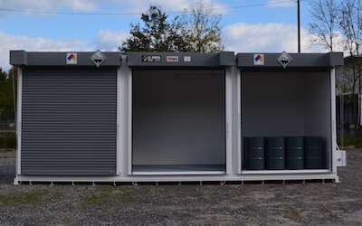 Flammable and combustible chemicals storage unit