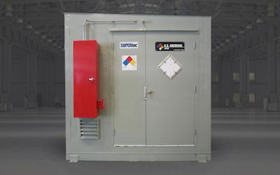 Paint storage lockers