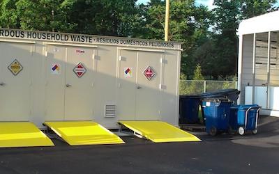 Storage unit for household hazardous waste