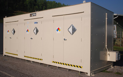 Storage unit for acetophenone