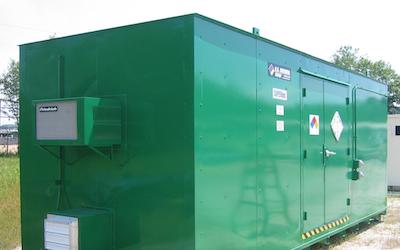 ethanol storage unit