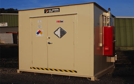 Flammable liquid storage container for military