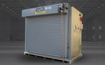 Fire rated chemical storage container