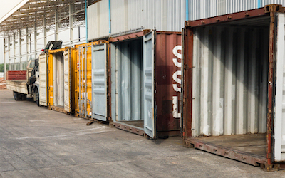 Military chemical storage container