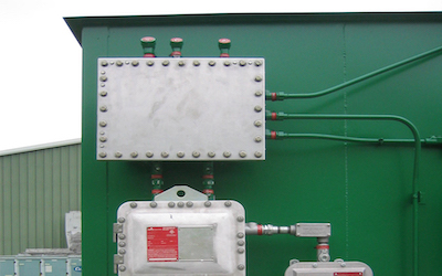 Chemical storage container for intrinsic