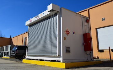 Fire resistant chemical storage building