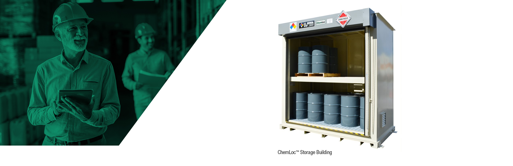CHEMloc hazardous chemical storage buildings from U.S. Chemical storage provide unparalleled protection for all non fire-rated chemical storage needs.