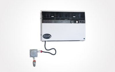 Air conditioner system for chemical storage containers