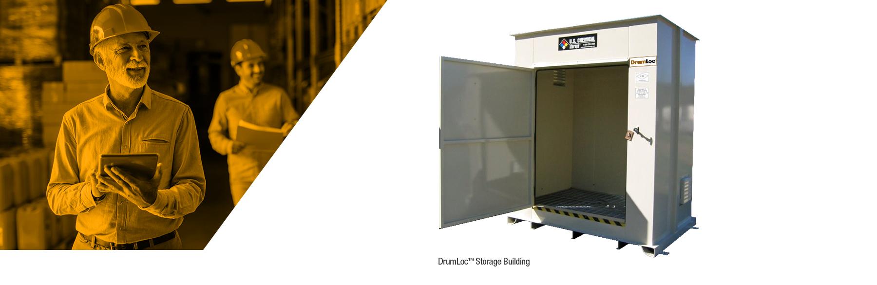 U.S. Chemical Storage's DrumLoc chemical drum storage buildings
