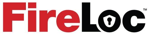 FireLoc flammable liquid storage building logo