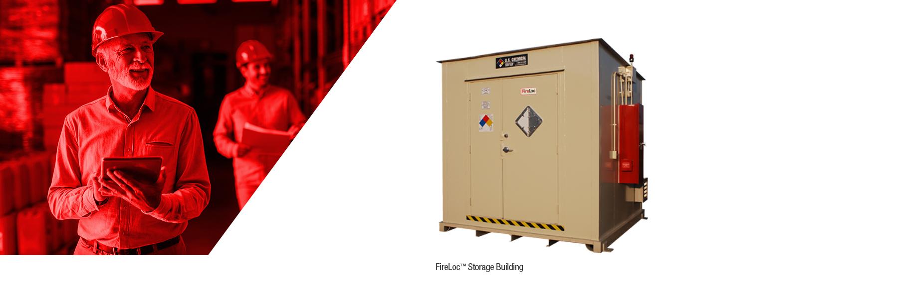FireLoc flammable liquid storage building from U.S. Chemical Storage.