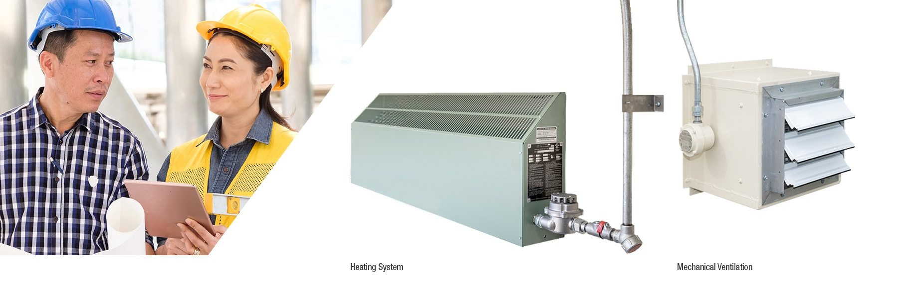 Heating and ventilation systems for chemical storage units