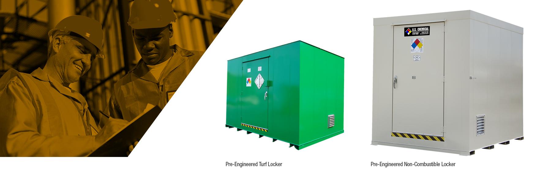 U.S. Chemical Storage pre-engineered chemical storage lockers