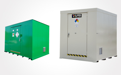 U.S. Chemical Storage pre-engineered chemical storage lockers
