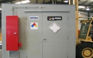 Flammable paint storage locker