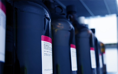 Chemicals often found in a mixing and dispensing chemical storage building.