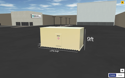 create a chemical storage building