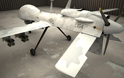 A drone that would need its battery housed in a U.S. Chemical Storage lithium battery storage building.