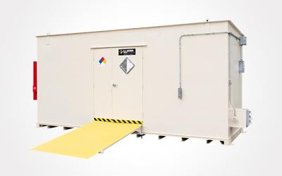 Rental chemical storage unit